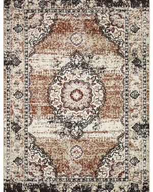 Beverly rug artemis collection vintage area rug 1000a brown firered