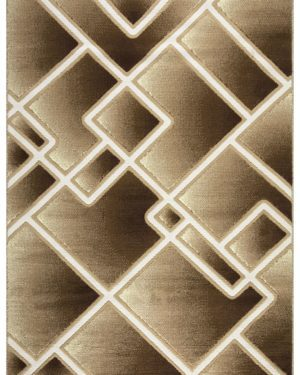 Beverly rug bella collection modern geometric area rug 00957a beige brown