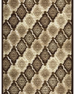 Beverly rug bella collection floral pattern area rug 00965a beige brown