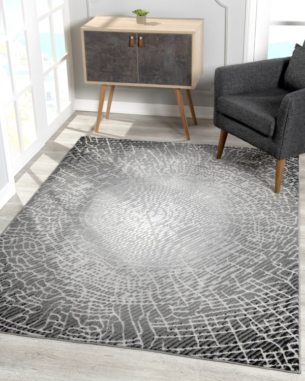 Beverly rug bella collection modern abstract area rug 00966a black grey